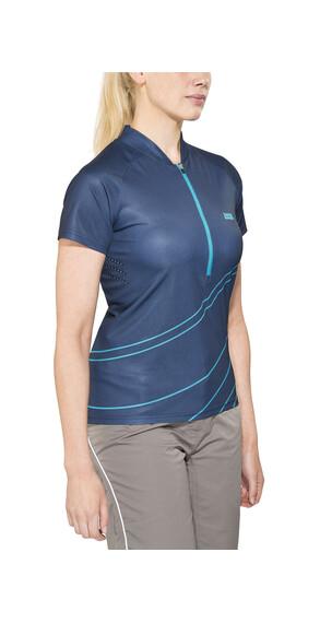 IXS Trail 6.2 Naiset lyhythihainen ajopaita , sininen